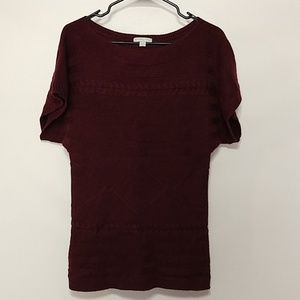 New York & company small maroon chunky knit
